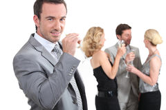 People drinking champagne Stock Images