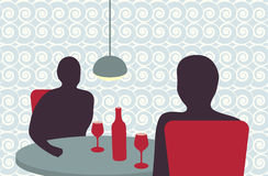 People drinking in a restaurant Royalty Free Stock Photos