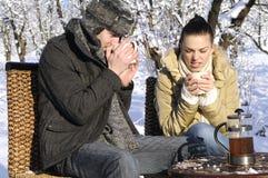 People Drinking Tea Stock Photos