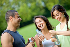 People drinking water Royalty Free Stock Photos