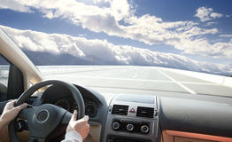 People driving car Royalty Free Stock Photography