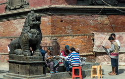 People in Durbar Square Royalty Free Stock Photography