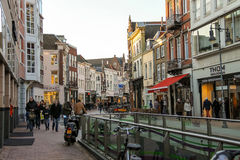 People in the  Dutch city Den Bosch Stock Photography