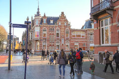 People  in the Dutch town Den Bosch. Royalty Free Stock Images