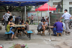 People are eating breakfast in GUILIN Royalty Free Stock Photo