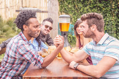 People eating and drinking Stock Photos