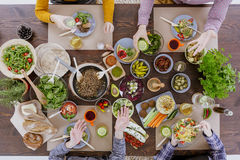 People eating and drinking Royalty Free Stock Images