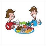 People eating Stock Image
