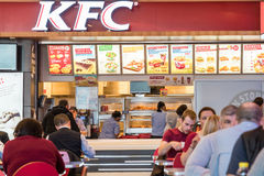 People Eating Fast-Food From KFC Restaurant Royalty Free Stock Image