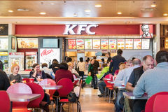 People Eating Fast-Food From KFC Restaurant Royalty Free Stock Photos