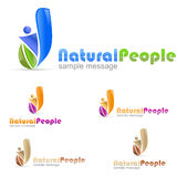 People Eco Logo royalty free stock photography