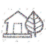 People ecological house icon Stock Image