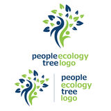 People ecology tree logo 3 royalty free illustration
