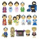 People of Edo period Japan 02 samurai. Tokugawa period,  file Stock Photo