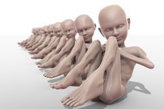 People - The effect of genetic experiments Royalty Free Stock Photos