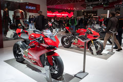 People at EICMA 2013 in Milan, Italy stock photography
