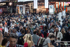 People at EICMA 2013 in Milan, Italy Royalty Free Stock Images