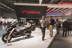 People at EICMA 2014 in Milan, Italy Stock Images