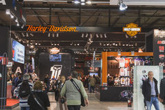 People at EICMA 2014 in Milan, Italy Stock Photo
