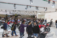 People at EICMA 2014 in Milan, Italy Stock Photography