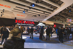 People at EICMA 2014 in Milan, Italy Stock Image