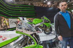 People at EICMA 2014 in Milan, Italy Royalty Free Stock Photography