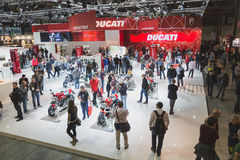People at EICMA 2014 in Milan, Italy Royalty Free Stock Photo