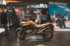 People at EICMA 2014 in Milan, Italy Royalty Free Stock Photos