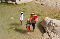 People in the Ein Gedi Nature Reserve Royalty Free Stock Photos
