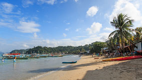 People on El Nido beach, Palawan in the Philippines Royalty Free Stock Photo