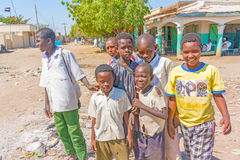 People in El Suki , Sudan. Royalty Free Stock Photos