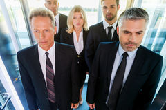 People in elevator. Stock Photography