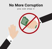 People or eligible voter say no and stop receive money from anyone for election dealing or commission for anti-corruption. People or eligible voter say no and vector illustration