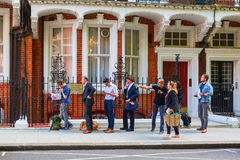 People at the Embassy of Azerbaijan in London Royalty Free Stock Images