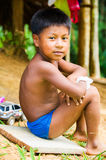 People in EMBERA VILLAGE, PANAMA Stock Photo
