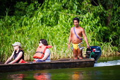 People in EMBERA VILLAGE, PANAMA Stock Images