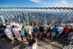 People on the empire state building Stock Image