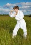 People engaged in martial arts Stock Photos