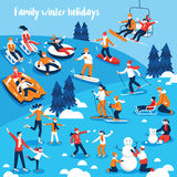 People Engaged In Winter Sports Stock Images
