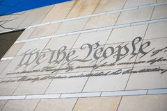 We the People Engraving stock photo
