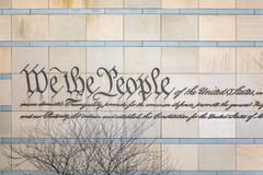 We the People Engraving stock photography