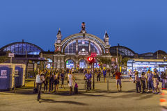 People enjoy the annual Bahnhofsviertel party in Frankfurt. FRANKFURT, GERMANY - SEP 8, 2016: people enjoy the annual Bahnhofsviertel party in Frankfurt. This stock photo