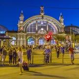 People enjoy the annual Bahnhofsviertel party in Frankfurt. FRANKFURT, GERMANY - SEP 8, 2016: people enjoy the annual Bahnhofsviertel party in Frankfurt. This stock photos