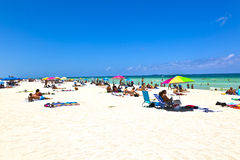 People enjoy the beach im Miami Stock Images