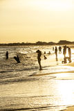 People enjoy the beautiful beach in late afternoon  at Dauphin I Royalty Free Stock Images