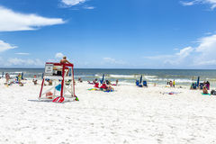 People enjoy the beautiful beach at Niceville Stock Image