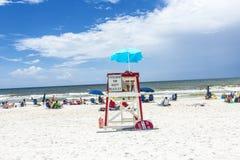 People enjoy the beautiful beach at Niceville. NICEVILLE, USA - JULY 21, 2013: people enjoy the beautiful beach at Niceville, USA. The adjacent cities of Royalty Free Stock Photo