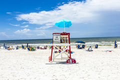 People enjoy the beautiful beach at Niceville Royalty Free Stock Photo