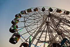 People enjoy the big wheel Stock Image