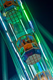 People enjoy the big wheel in the amusement park in Delhi Royalty Free Stock Images